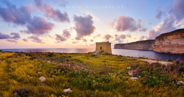 Gozo-Sundown-Tower-web