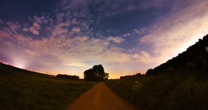 Nachthimmel bei der Leitha in Nickelsdorf